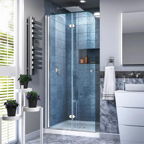 "Aqua Fold 13.75"" W x 72"" H Pivot Semi-Frameless Shower Door"