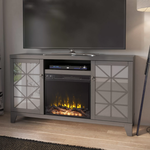 """Gerde TV Stand for TVs up to 65"""" with Fireplace Included"""