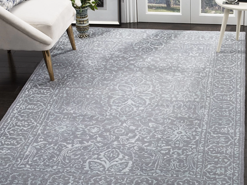 9' x 12' Wilkins Hand-Tufted Opal/Gray Area Rug