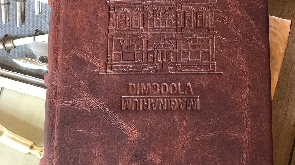 Full-leather Bound Lined Journal - Dark Brown