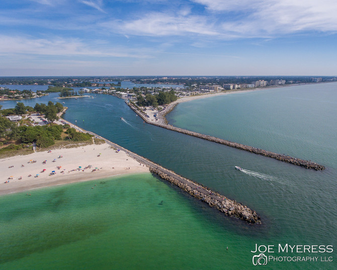 Fly over Nokomis Beach, FL