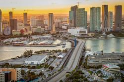 Port of Miami at Dusk