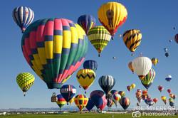 Balloons lift off
