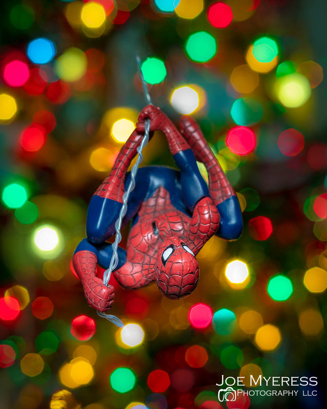 Spider-man stops by for Xmas visit