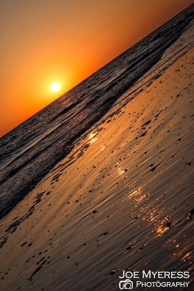 Enjoying Siesta Key Beach sunset