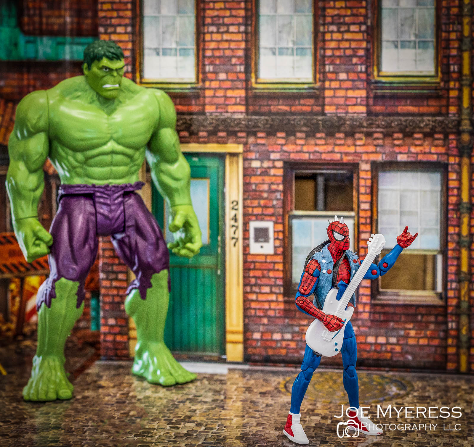 Spider Punk with the Hulk