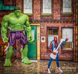 Spider Punk with the Hulk