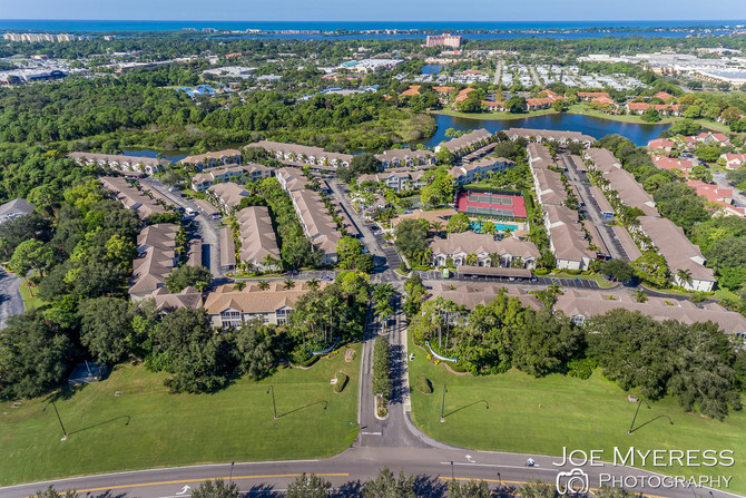Aerial - Drone image of local community