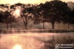 Fog on lake