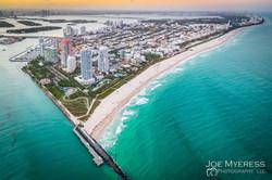 High above South Beach Miami