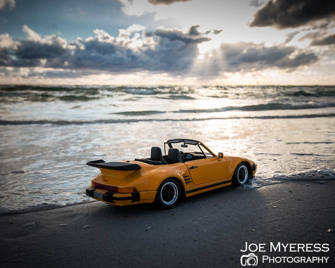 Took my new car to the beach...