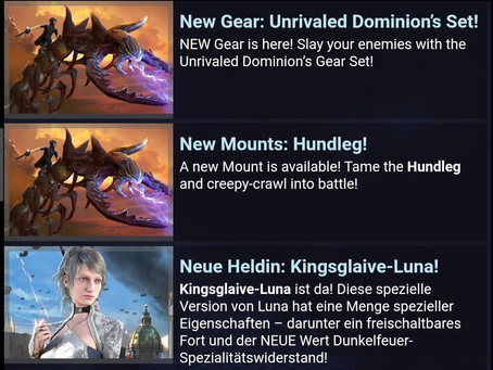 Kingsglaive Luna - Hundertfuß Reittier - Dominion Ausrüstung