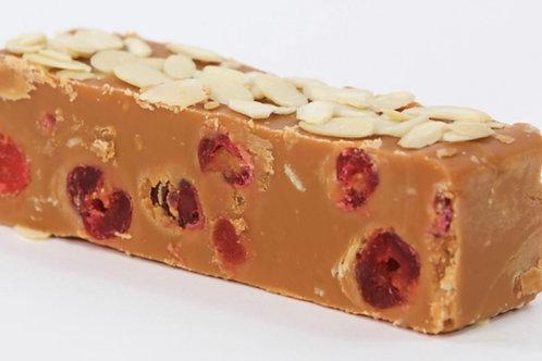 Cherry & almond fudge block