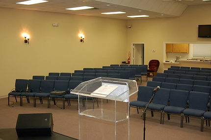 Interiro - GO Church Sanctuary from behind podium