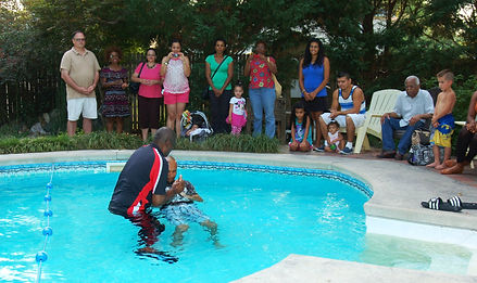 GO Church Baptism - whether it is in a pool or in the sanctuary, baptism is making a public declaration that you are following Jesus Christ.