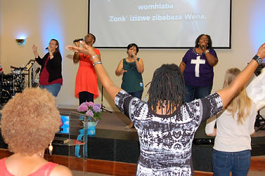 GO Women's Conference - Singing a Zulu song