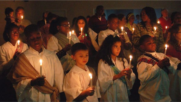 Global Children at the Global Christmas Eve Candlelight Service