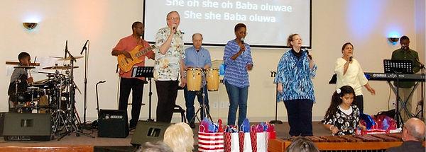 GO Church Worship Team sings/plays an Zulu song.