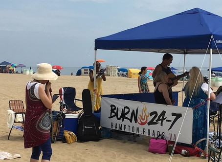 """David's Tent and Burn 24-7 Team up for """"Beach Burn"""""""
