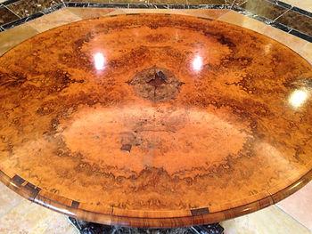 名古屋,アンティーク家具修理,おーばるテーブル修理,ビフォーアフター