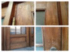 名古屋,アンティーク家具修理,木製ドア塗装修理,ビフォーアフター