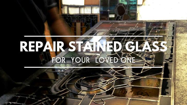 アンティークステンドグラス|修理