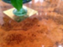 名古屋,アンティーク家具修理,オーバルテーブル修理,ビフォーアフター