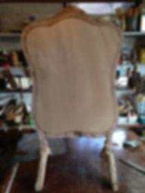 名古屋,アンティーク家具修理,フレンチファイヤースクリーン修理背板,ビフォーアフター