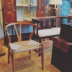 材料ぎれでストップしていたYチェア_無事に編み上げました。__#チェア #椅子