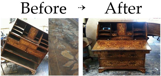 アンティーク家具修復|ウォールナット|名古屋