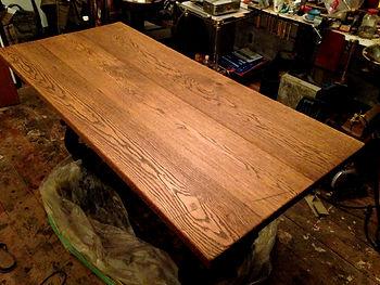 名古屋,アンティーク家具修理,オーくテーブル修理,ビフォーアフター