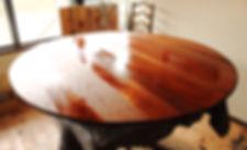 名古屋,アンティーク家具修理,オイルステイン,ビフォーアフター