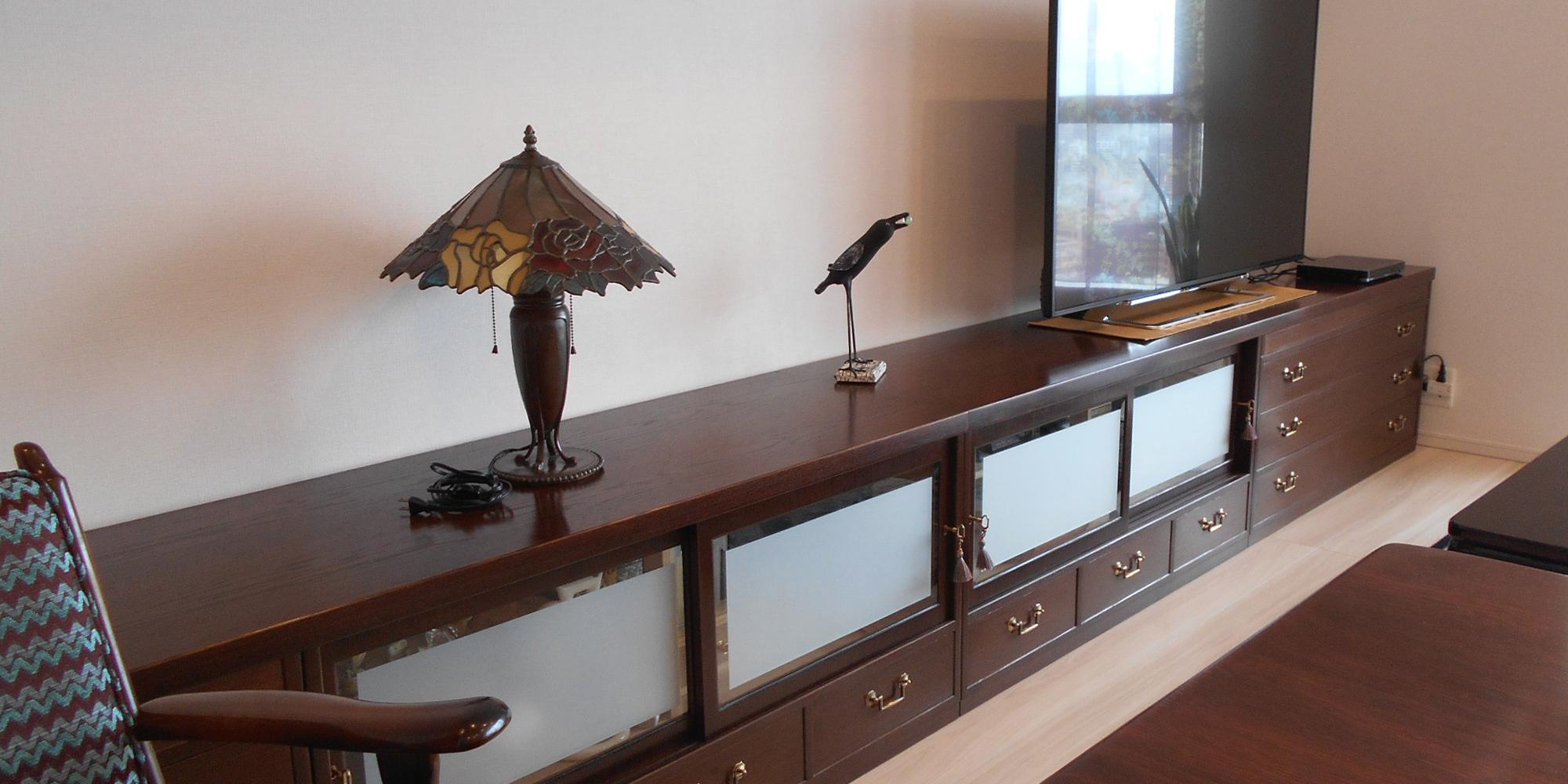 桐箪笥リメイク|アンティーク塗装|テレビボード