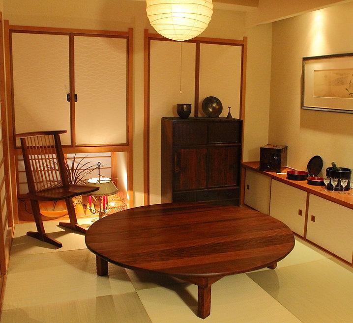 名古屋,アンティーク家具修理,椿テーブル再生家具修理後,ビフォーアフター