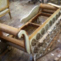 名古屋,アンティーク家具修理,カウチソファ修理,ビフォーアフター