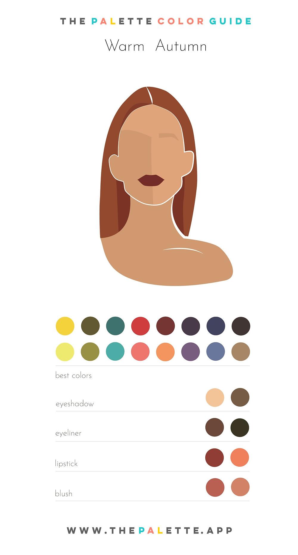 Warm Autumn Color Palette and Makeup Color Tips