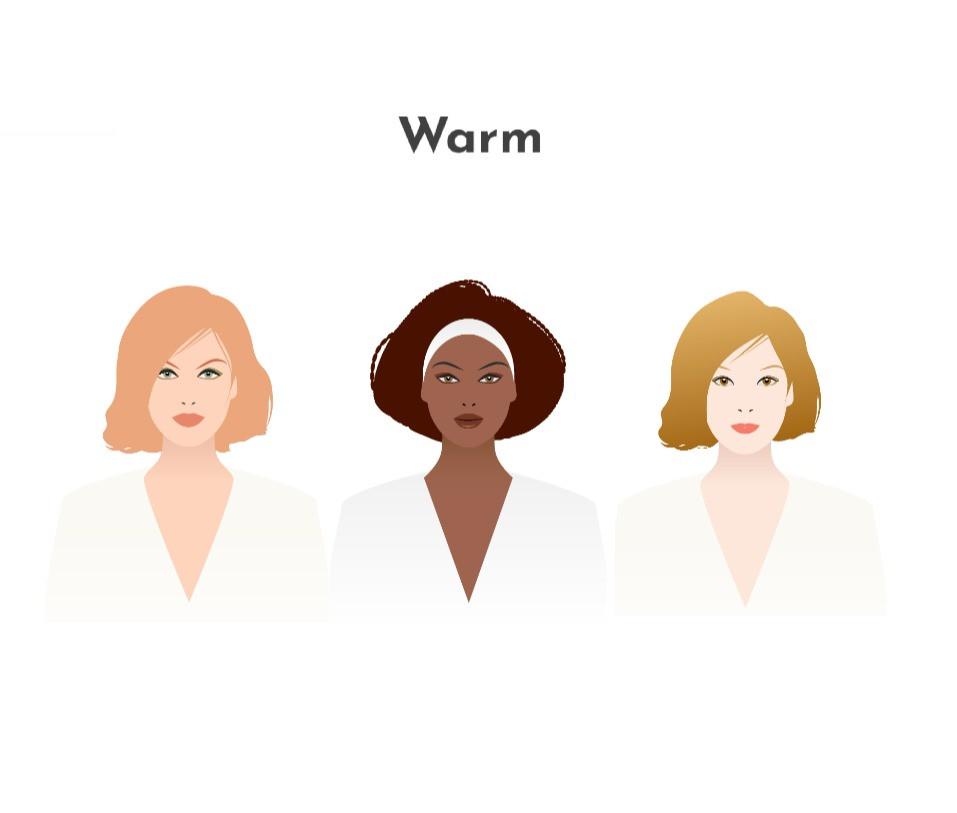 Warm skin undertone