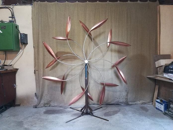 ветряные кинетические скульптуры из меди
