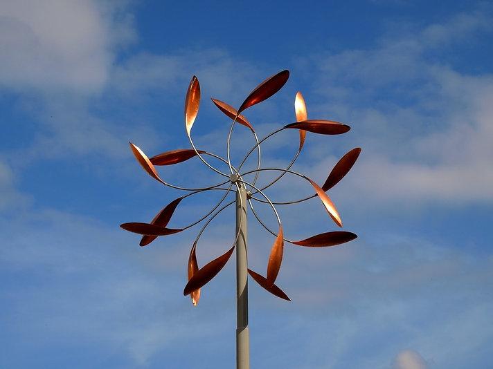 декоративные ветряки из меди и стали