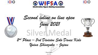 Diplome 2eme place 2nd IOIO  Yuina Shinozuka JPN.png