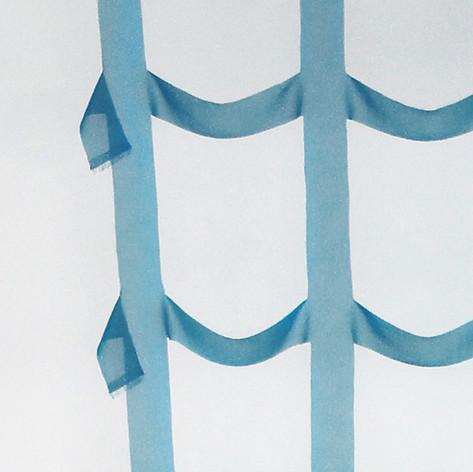 Rideau bleu