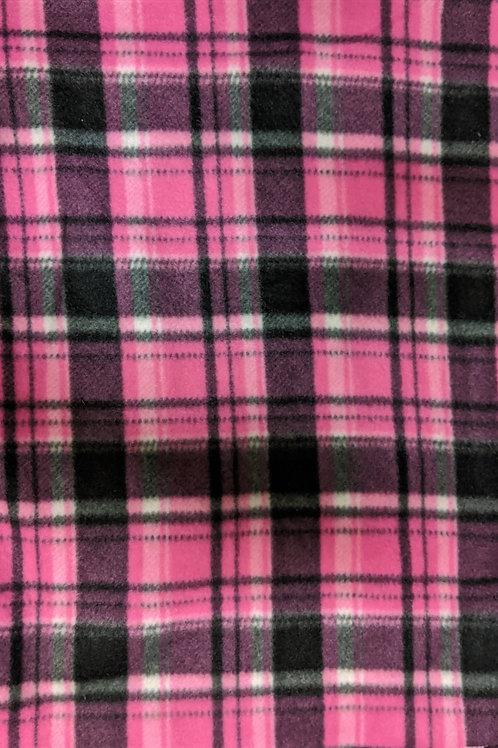 Pink Plaid, fleece on fleece