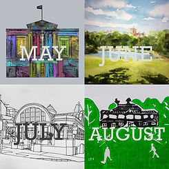 Calendar images May - Aug