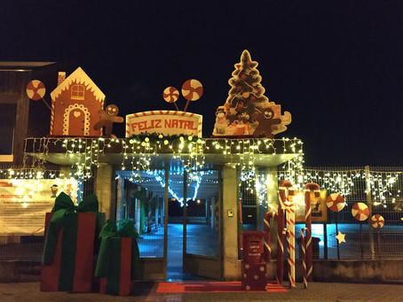 Decorações de Natal da escola básica n.º 2 de Lordelo