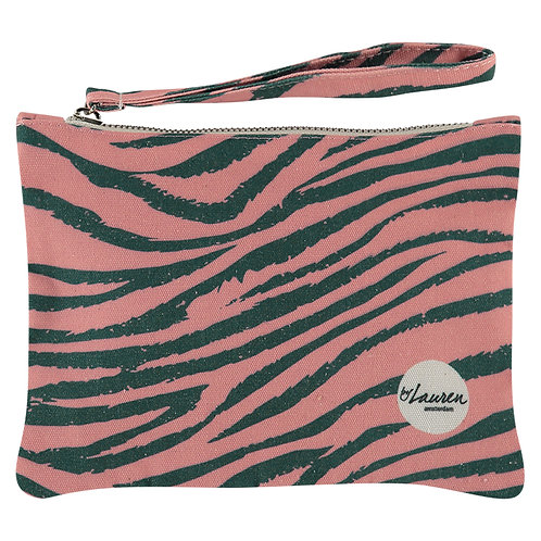 tiger camouflage clutch