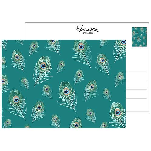 be proud ocean green postcard