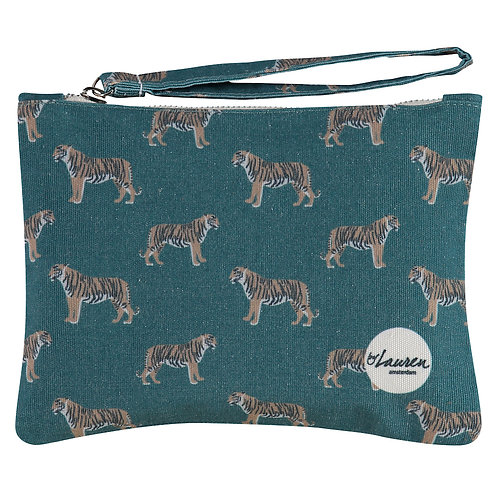 only tigers for me majestic green clutch