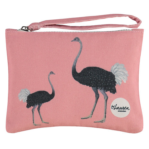 ostrich party clutch