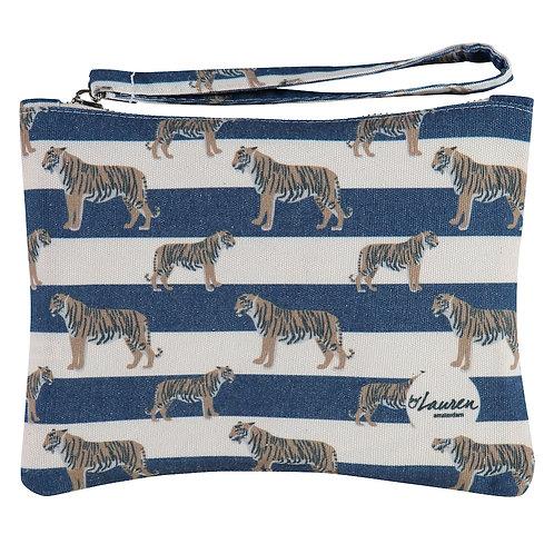 tigers & stripes royal navy clutch