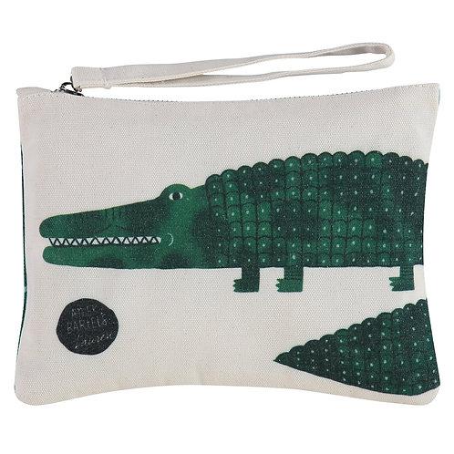 smile crocodile by Aniek Bartels clutch